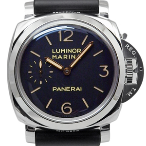 Panerai Luminor Marina 1950 3days Pam00422 Men's Back Scales Hand Wound P No. Black Letter Board Watch
