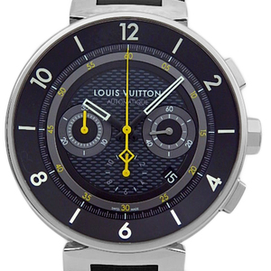 Louis Vuitton Tambour Moon Automatic Q8d40 Chronograph Mens Quartz Black Type Wrist Watch