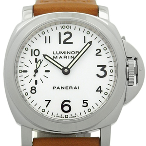 Panerai Luminor Marina Pam00003 44mm Men's Hand Winding D Number White Dial Watch