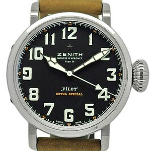 Zenith El Primero Pilot Aeroneff Type 20 Xx Extra Special 03.2430.3000 21.c738 Men's Automatic Black Letter Watch Wrist
