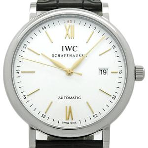 Iwc Portofino Iw 356517 Mens Automatic Silver Dial Plate Watch