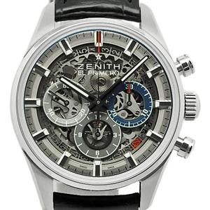Zenith El Primero Chrono Master Full Open 03.03.2153.400 78. C813 Men's Automatic Back Scale Skeleton Dial Watch