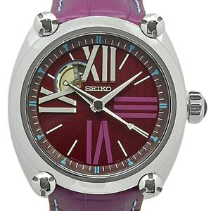 Seiko Galante Mechanical Open Heart Sbll003 8l 38 Men's Automatic Back Scale Magenta Dial Watch