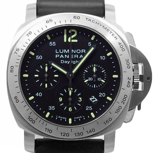 Panerai Luminor Daylight Chronograph Pam00250 Men's Automatic Number I Black Letter Wrist Watch