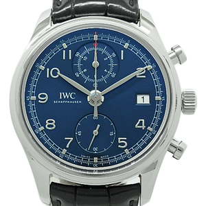 Iwc Portuguese Chronograph Classic Rowleus Limited Iw 390406 Men's Automatic Blue Dial Watch