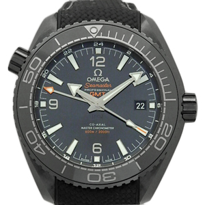 Omega Seamaster Professional Planet Ocean Gmt 215-92-46-22-01-001 Co-axial Chronometer Men's Back Scale Automatic Deep Black Case Watch Wrist