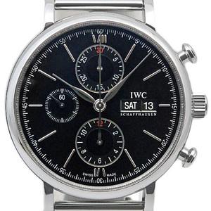 Iwc Port Finino Portofino Chronograph Iw391012 Men's Automatic Black Letter Watch Wrist