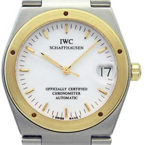 Iwc Indiania Chronometer Iw 352103 K18 Yg / Ss Combination Automatic Mens White Dial Watch
