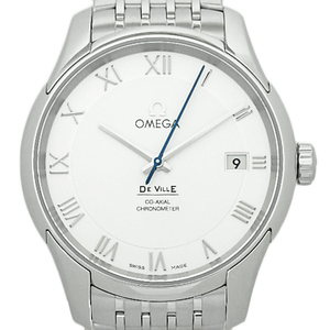 Omega De Ville Devil Co-axial Chronometer 431-10-41-21-02-001 Men's Automatic Back Scale Silver Dial Watch