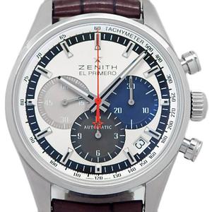 Zenith El Primero 36000vph 03.2150.400 69.c713 Chronograph Men's Automatic Back Scale Silver Dial Watch