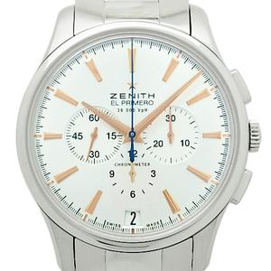 Zenith Captain El Primero Chronograph 03.2110.400 01.m2110 Men's Automatic Back Scale Silver Dial Watch