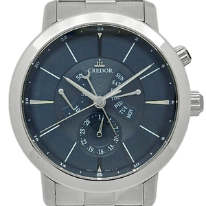 Seiko Credor Node Day Power Reserve Gcbt 995 4s 76 Men's Automatic Navy Dial Watch