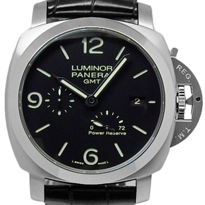 Panerai Luminor Marina 1950 3days Gmt Power Reserve 3 Days Pam00321 Men's Back Scale Automa S Number Black Letter Watch Wrist