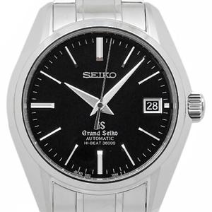 Seiko Gs Grand Sbgh005 9s85 High Beat 36000 Automatic Back Scale Men's Black Case Watch Wrist