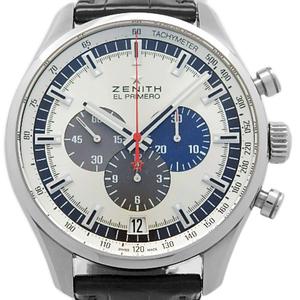 Zenith El Primero Chrono Master 03.2520.401 69. C713 Chronograph Men's Automatic Back Scale Silver Dial Watch