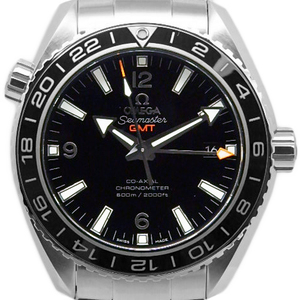 Omega Seamaster Planet Ocean 600 232-30-44-22-01-001 Co-axial Chronometer Men's Automatic Backside Scale Black Dial Watch Wrist