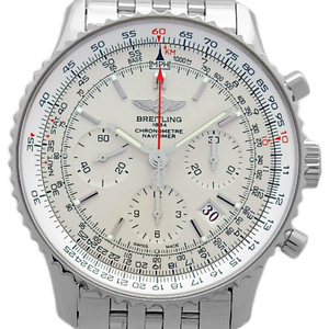 Reitling Breitling Navitimer 01 Limited Ab0123 World 2000 Edition Men's Automatic Back Scale Silver Dial Watch