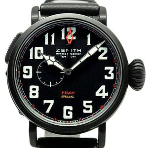 Zenith Pilot Aeroneff Type Xx Special Baron Rouge 96.2430.693 21.c703 Men's Automatic Black Letter Watch Wrist