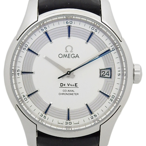 Omega De Ville Devil Hour Vision Co-axial Chronometer 431-33-41-21-02-001 Men's Automatic Back Scale Silver Dial Watch