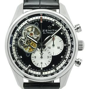Zenith El Primero Open Clono Master 1969 Boutique Edition 03.2042.4061 21.c496 Men's Automatic Backside Scale Black Type Wrist Watch