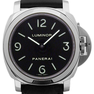 Panerai Luminol Base Pam00112 44mm Men's Back Scales Hand Winding Q Number Black Letter Board Watches