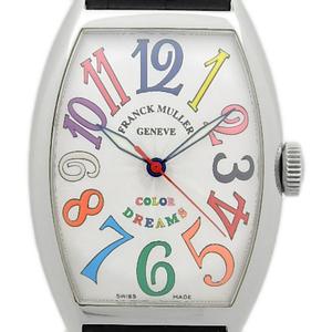 Frank Muller Color Dream Tonneau Carbex Toro 5850sccoldrm Mens Automatic Guilloche Silver Dial Watch