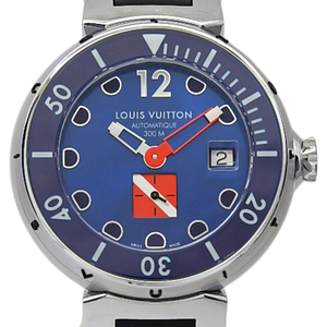 Louis Vuitton Tambour Diving Xl Q103f0 Men's Automatic Blue Dial Watch
