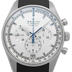 Zenith El Primero 03.2040.400 / 01.r580 36000vph Chronograph Men's Automatic Back Scale Silver Dial Watch