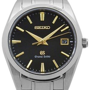 Seiko Gs Grand Sbgx 069 9f62 Quartz Ti Men's Black Letter Board Wrist Watch