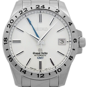 Seiko Gs Grand Gmt Mechanical Sbgm 025 9s 66 Back Scale Men's Automatic Silver Dial Watch Wrist