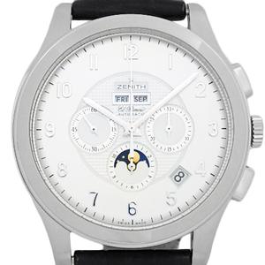 Zenith El Primero Classes Grand Class Triple Calendar Moon Phase 03.0520.4100 02.c492 Men's Automatic Back Scale Silver Dial Watch
