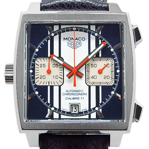 Tag Heuer Monaco Chronograph Steve Mcqueen Cal.11 Caw211d Fc6300 Men's Automatic Back Scale Blue Dial Watch