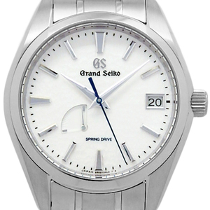 Seiko Gs Grand Spring Drive Titanium Sbga 211 11r 65 Master Shop Limited Men's Back Scale Automatic Silver Dial Watch Wrist