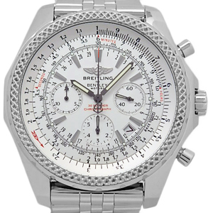 Breitling Bentley A25362 Motors Chronograph Men's Automatic Silver Dial Watch Wrist