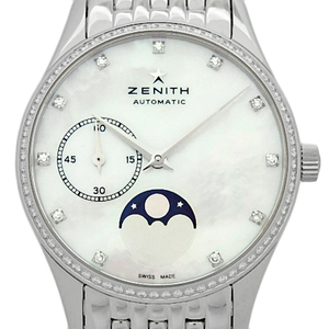 Zenith Class Elite Ultra Sin Lady 16.2310.692 / 81.m2310 Diamond Bezel 11p Phase Ladies' Automatic Back Scale Shell Dial Watch