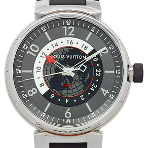 Louis Vuitton Tambour Graphite Q1d300 Gmt Men's Automatic Gray Dial Watch