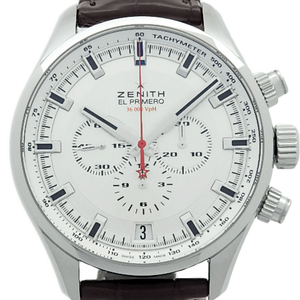 Zenith El Primero Sports 03.2280.400 Chronograph Men's Automatic Back Scale Silver Dial Watch