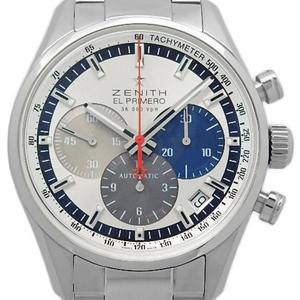 Zenith El Primero 36000vph 03.2150.400 69.m2150 Chronograph Men's Automatic Back Scale Silver Dial Watch