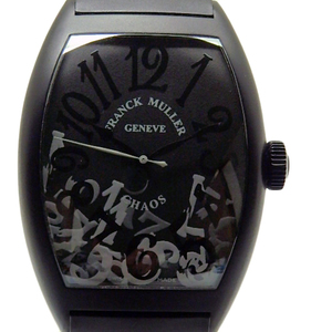 Frank Muller Tonneau Carvex Chaos 8880scsblnrchaos Men's Automatic Black Letter Board Watch