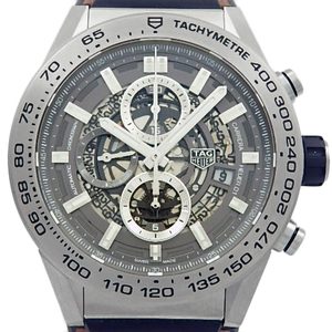 Tag Heuer Carrera Caliber 01 Chronograph Gray Phantom Titanium Car 2 A 8 Men's Back Scale Automatic Skeleton Dial Watch