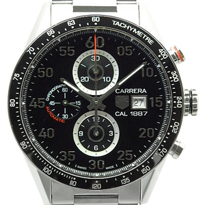 Tag Heuer Carrera Caliber 1887 Chronograph Car 2 A 10 Men's Automatic Backside Scale Black Dial Watch