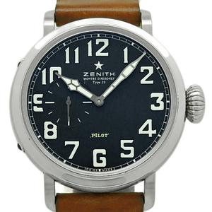 Zenith El Primero Pilot Aeroneff Type 20 Xx 03.1930.681 21. C723 Men's Automatic Black Letter Watch Wrist