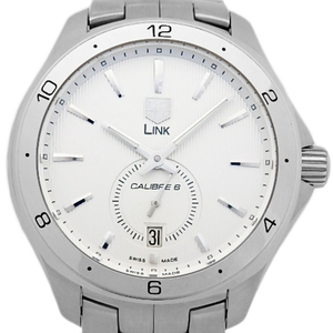 Tag Heuer Link Caliber 6 Wat 2111 Small Seconds Men's Automatic Back Scale Silver Dial Watch
