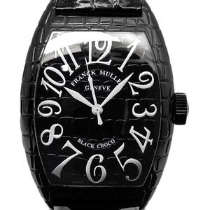 Frank Muller Tonneau Carbex Black Crocodile 9880scblkcro Men's Automatic Letter Watch Wrist