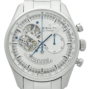 Zenith El Primero Open Chrono Master Power Reserve 03.2080.4021 01.m2040 Men's Automatic Back Scale Silver Dial Watch