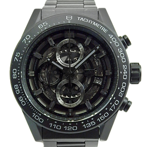 Tag Heuer Carrera Caliber 01 Cal. Hoyer Chronograph Car 2 A 91 Bh 0742 Men's Back Scale Automatic Skeleton Dial Watch