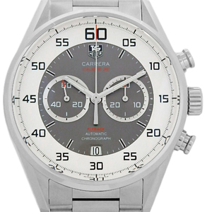 Tag Heuer Carrera Caliber 36 Flyback Chronograph Car 2 B 11 Ba 0799 Men's Back Scale Automatic Silver / Gray Dial Watch
