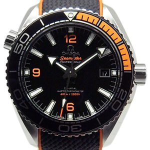 Omega Seamaster 600 Planet Ocean Master Chronometer 215-32-44-21-01-001 Co-axial Men's Back Scale Automatic Black Case Wrist Watch