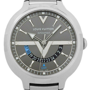 Louis Vuitton Voyager Gmt Q7d30 Automatic Men's Back Scale Gray Dial Watch