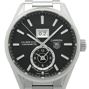 Tag Heuer Carrera Caliber 8 Gmt Chronometer War 5010 Ba 0723 Men's Automatic Backside Scale Black Type Wrist Watch